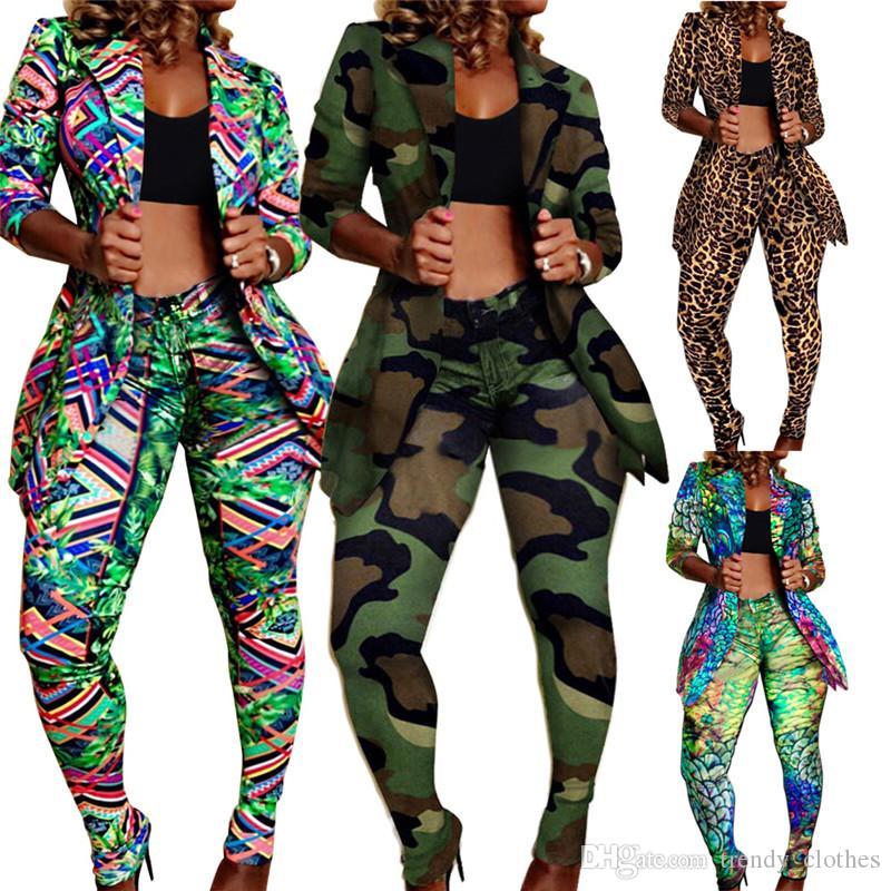 Kadınlar Artı boyutu Ceket Suit 2 Adet Set Tozluklar Kıyafetler Spor Suit Tam Boy Kabanlar Eşofman Capris 1826 Kış Seksi Giyim Sonbahar