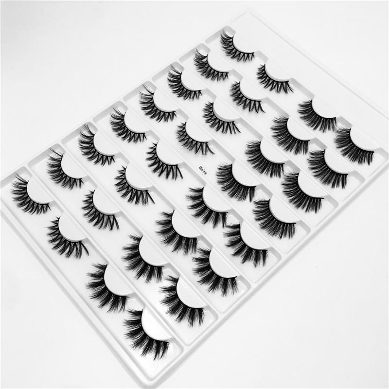 16Pairs/Set 3D Faux Mink False Eyelashes Handmade Thick EyeLashes Fluffy Long Lashes Makeup Tools Faux Eye Lashes