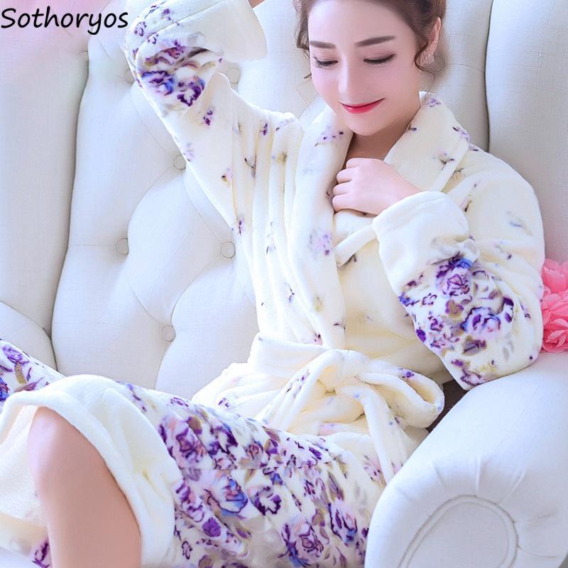 Önlük Bayan Gecelik 2019 T200110 Giyinme Elbiseler Kadınlar Uzun Bornoz Çiçek Fanila Sıcak Kimono Banyosu Gelin Düğün Gelinlik Robe