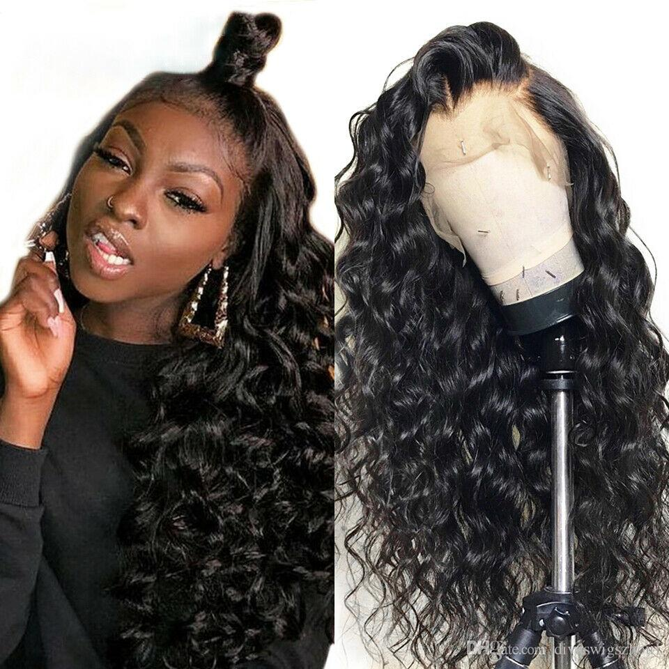 Celebrity 360 Lace Frontal Wig Pre Plucked With Baby Hair Brazilian Water Wave Curly 360 Lace Front Human Hair Wigs For Black Women
