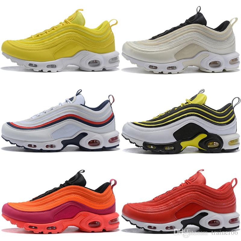 New 97 Plus Shoes TN Running Shoes Trainers Sneakers Top Quality stylist Mens Shoes Womens Sports Athletic Sneakers 36-46