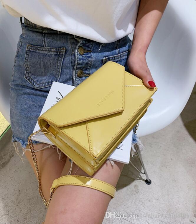 Good Price Mode-Design Schultertasche Echtes Lammleder Doppel Flaps Taschen Medium Frauen-Ketten-Beutel-Handtaschen uiyhk