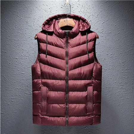 Logo Cepler ile Kollu Aşağı ceketler olmadan Saf Renk Marka Erkek Kalın Yelek Tasarımcı Dış Giyim Palto Günlük Spor Aktif B101013L Zip