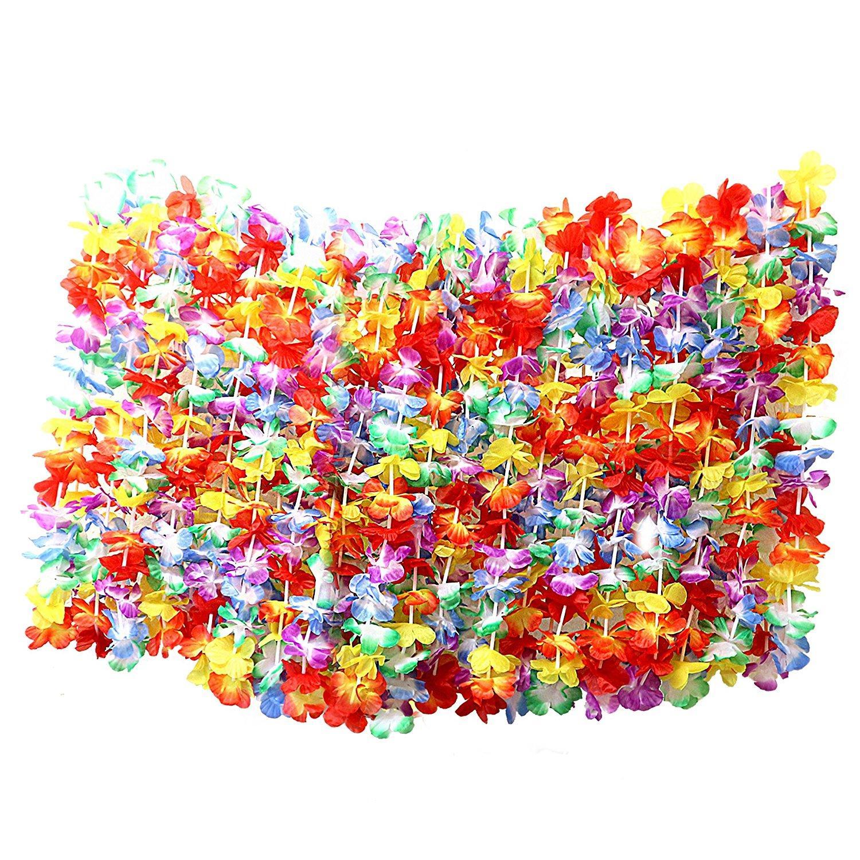 BMBY-50 x Tropical Flor havaiana colares por - grandes lotes de colares - terno Hawai Floral Acessórios Perfeito para Theme Bi