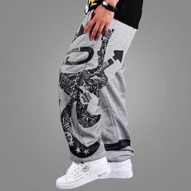 2017 Spring and summer thih hiphop pants straight cotton skateboard casual health sweatpants elastic plus size