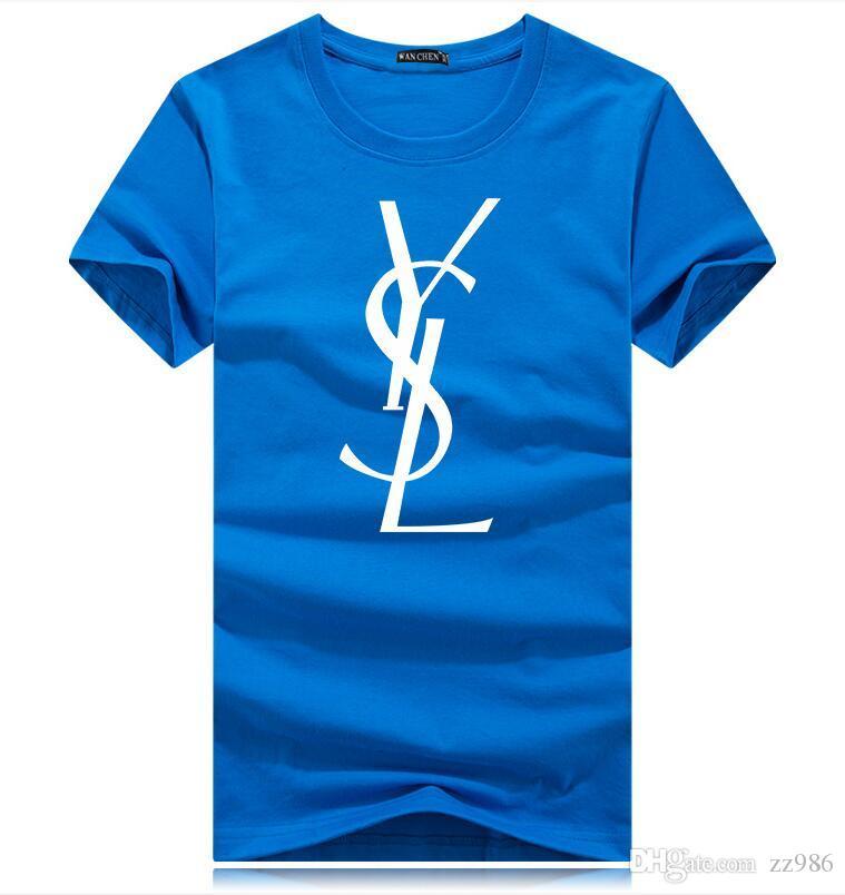 Топ мода лето мужчины футболки топы дизайнеры круглый Rguc письмо печатных футболка мужская одежда бренд с коротким рукавом футболка женщины топы S-5Xl