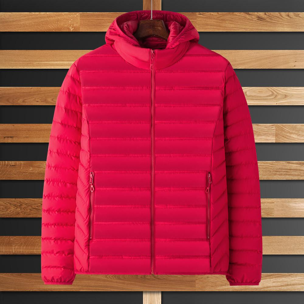 Brasão Tide Homens Parka revestimento do revestimento de Inverno Moda Zipper Pure Hoodie Cor espessamento Cotton Outwear