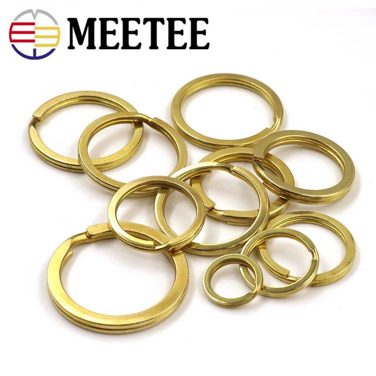 Meetee BD002 DIY Pure Copper Key chain Ring Flat Slip Light Accessories Complete Specifications