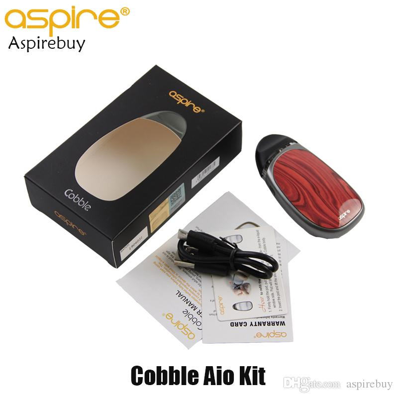 Aspire Cobble AIO Kit Pod System Starter Kit Batería de adoquín incorporada de 700 mAh con cartucho de cápsula 1.8ML 100% original