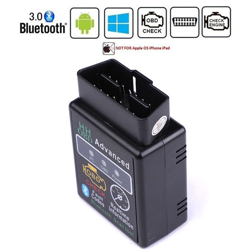 ELM327 بلوتوث OBD2 OBDII CAN BUS التحقق من محرك سيارة التشخيص ماسحة محول واجهة السيارات أداة للحصول على جهاز الروبوت