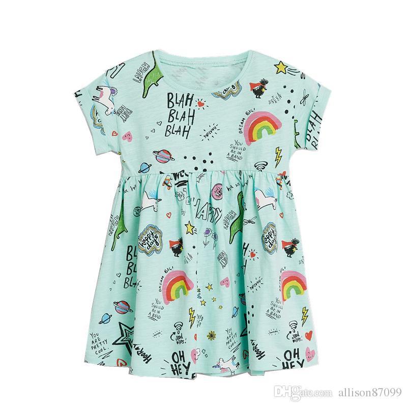 NEW Girls Unicorn Glitter Unicorn Rainbow Sleeveless Dress 2T 3T 4T 5T 6 7