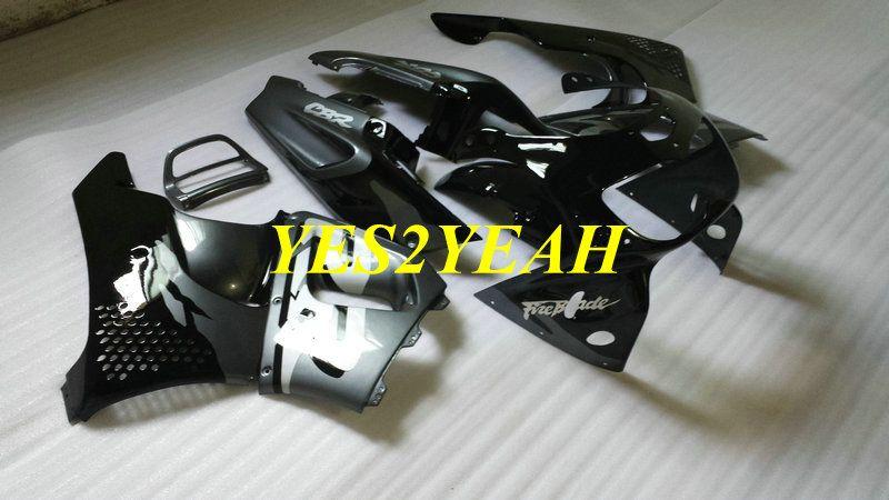 혼다 용 오토바이 페어링 바디 키트 CBR900RR 893 96 97 CBR 900RR CBR900 1996 1997 ABS 실버 블랙 페어링 차체 + 선물 HX17