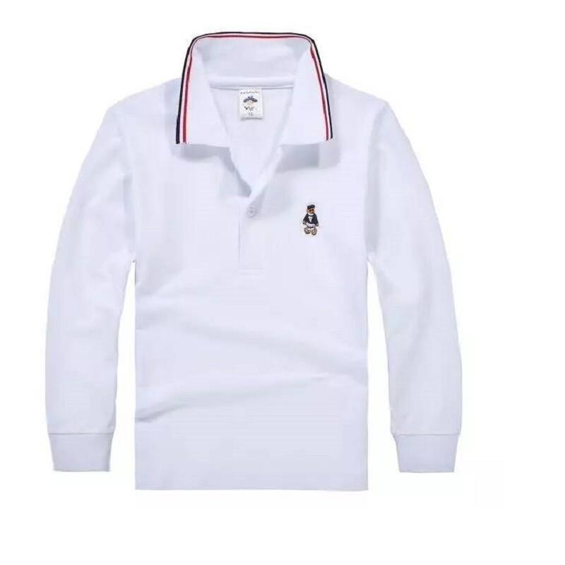 Top Quality Kids Boy Polo Shirts School Uniform Shirt Boys T Shirt Long Sleeve Cotton Clothes For 3 4 5 6 7 8 9 10 11 12 Years