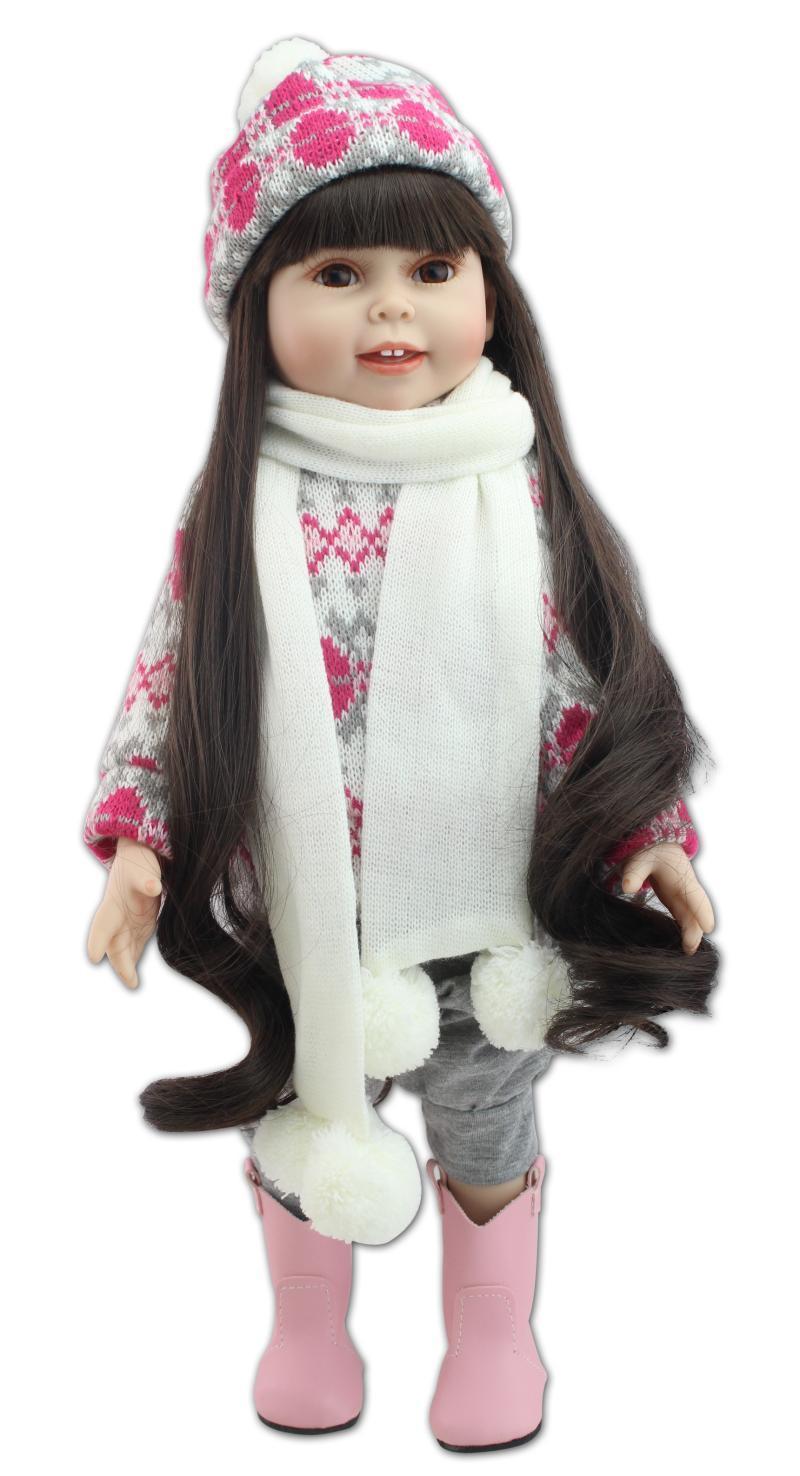 hxldollstore моды реалистичного младенца 18' Inch American Girl Doll PlayToy BDG67 Экологичные Brinquedos Meninas Купание DIY Doll Cheapest Do