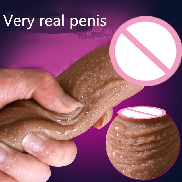 CPWD Super Soft Silicone Dildo Realistic Suction Cup Dildo Male Artificial Penis Dick Female Masturbator Adult Sex Toy For Women Y200411