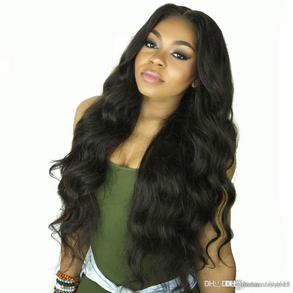 Body Wave Front Human Hair Wigs for Women Pre Plucked Hairline with Baby Hair 26Inch Brazilian Remy Hair Bleached Knots