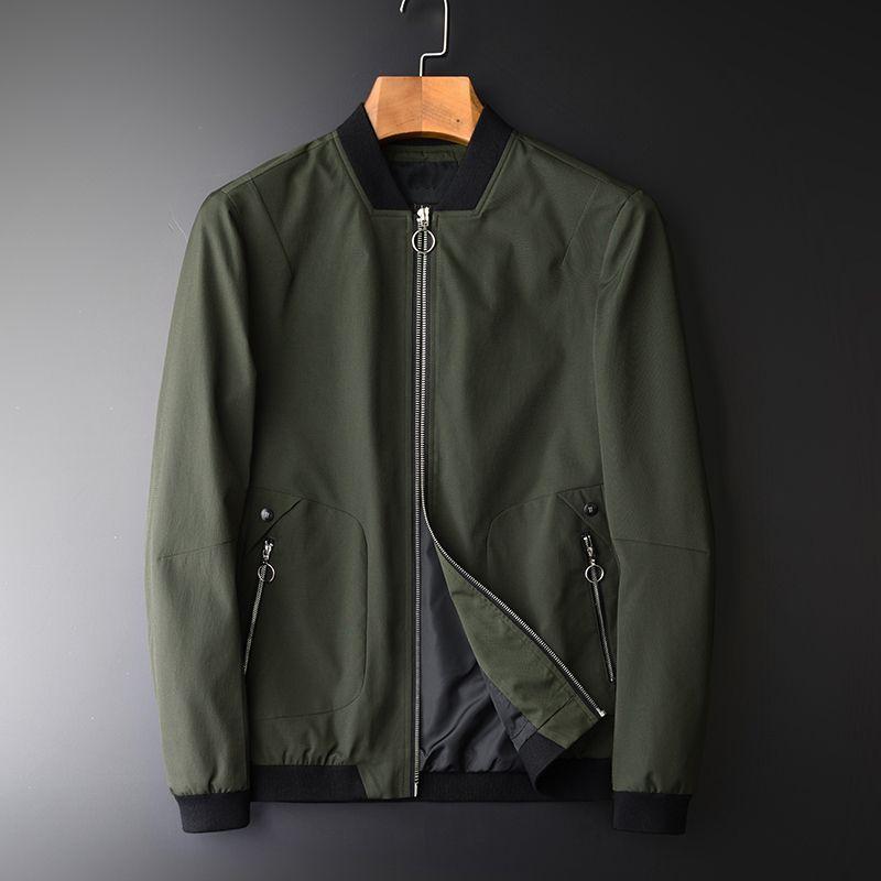 Frühlings-Armee-Grün der neuen Ankunfts-Standplatz-Kragen Slim Fit Herrenmode Jacken Herren Mantel plus Größe M-4XL
