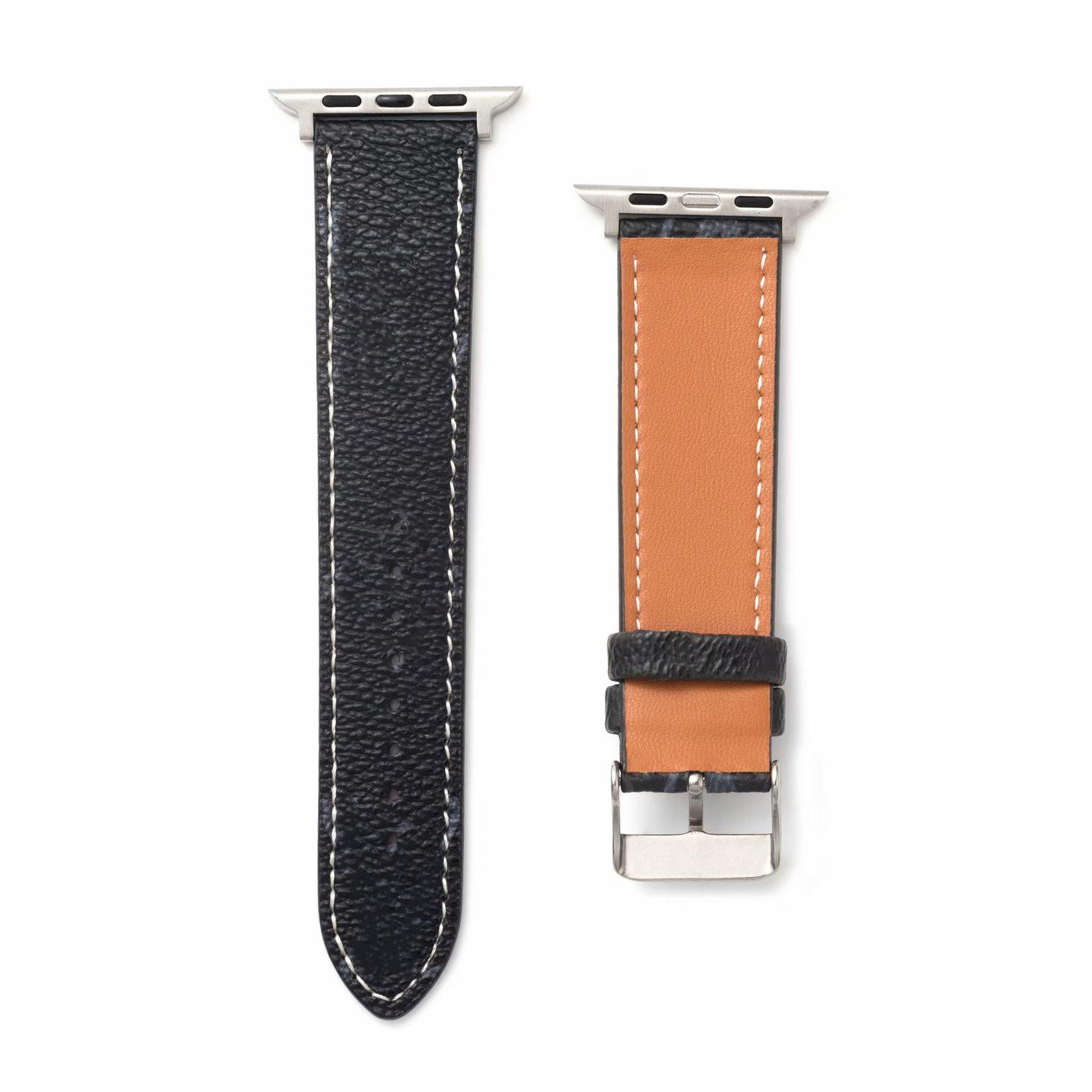 Suitable for Apple Watch Band Laser Gradient 38mm 40mm 42mm 44mm Trend Fashion High Quality Designer Embroidered Watch Band