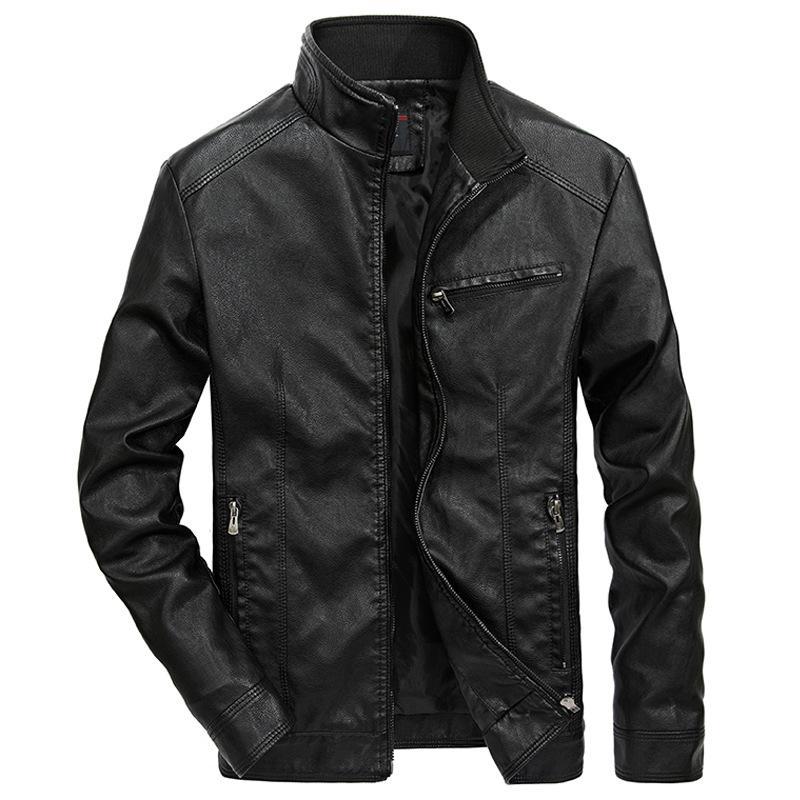 Кожаная куртка пальто уличная Мужская одежда Мужская куртка искусственная кожа пальто зима Мужская верхняя одежда весна тонкий пальто
