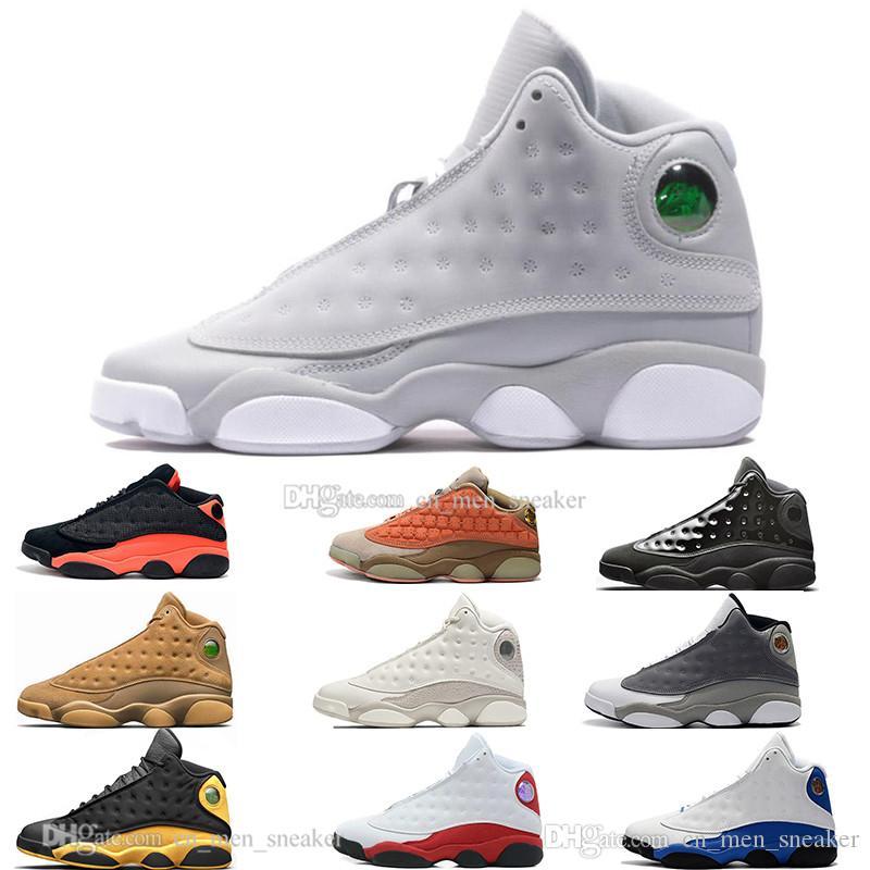 Hot 13 13s boné e um vestido DMP momentos decisivos Mens tênis de basquete Chicago Black Cat infravermelhos Flints Bred Homens Desportos Sneakers Designer