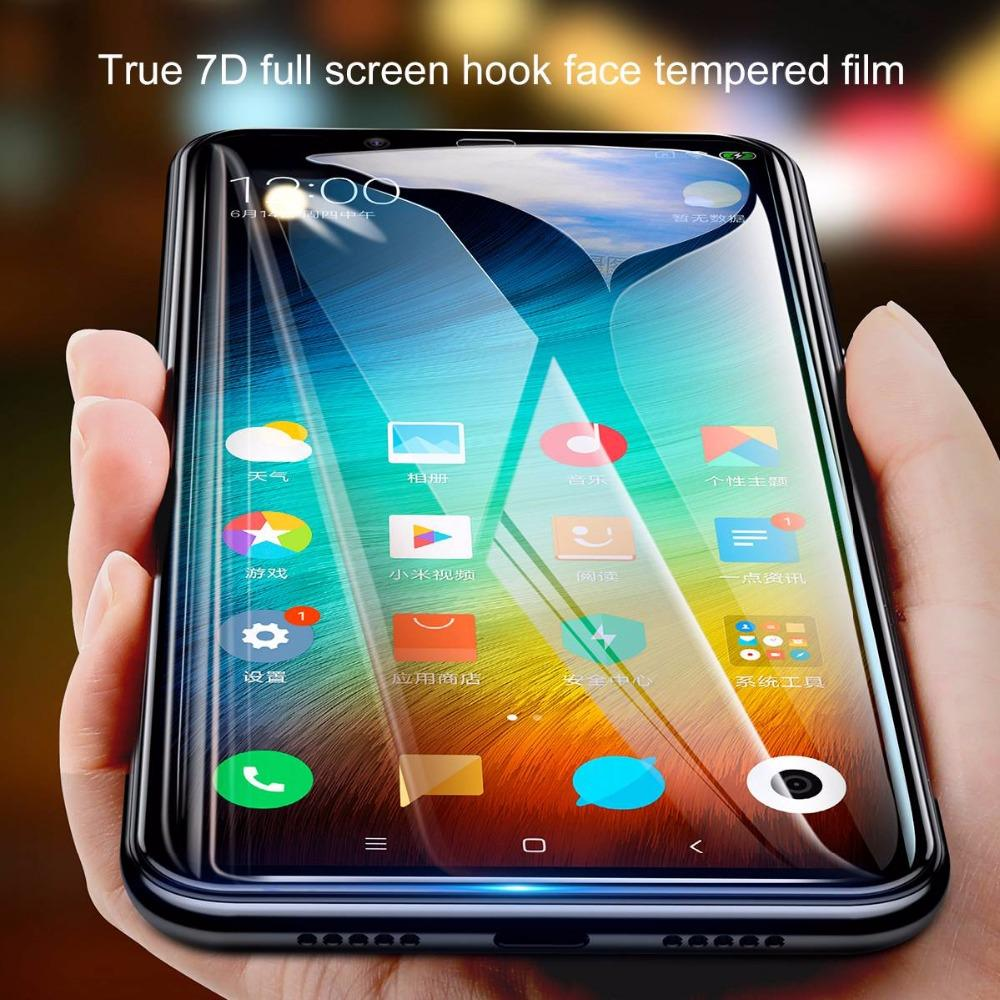 vente en gros 0.3mm Protecteur d'écran pour Xiaomi Mi 8 SE incurvé plein écran pour Xiaomi Mi8 SE en verre trempé - Noir
