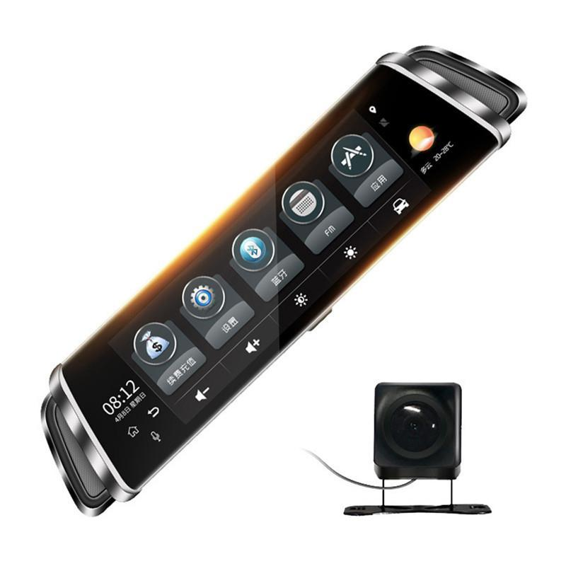 10-inch Tam Ekran Dokunmatik 4G Dikiz Aynası HD Araba Kaydedici Gece Görüş WiFi GPS ADAS Çift Lens Kaydedici ile Navigasyon araba dvr