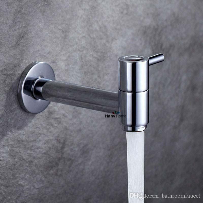 Krom Banyo Çamaşır Makinesi Ev Dokunun Soğuk Dokunun Tek Kolu Yıkayıcı Musluk Ev Banyo Krom Dokunun