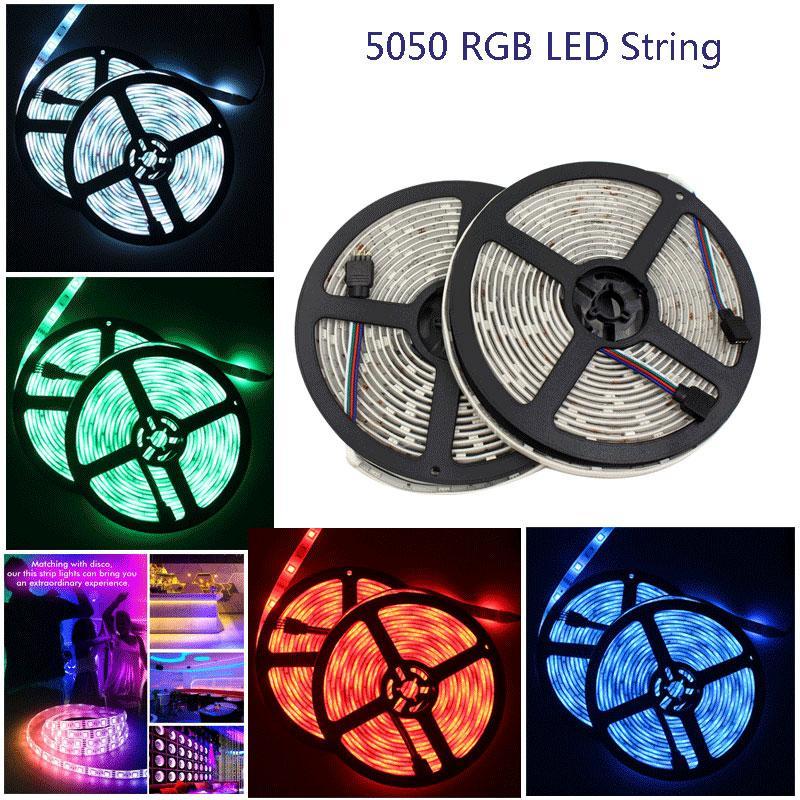 SMD coloré doux 5050 LED RGB bande AC 12V LED étanche intelligente chaîne 5m pour les téléviseurs rétro-éclairage avec le contrôleur USB IR