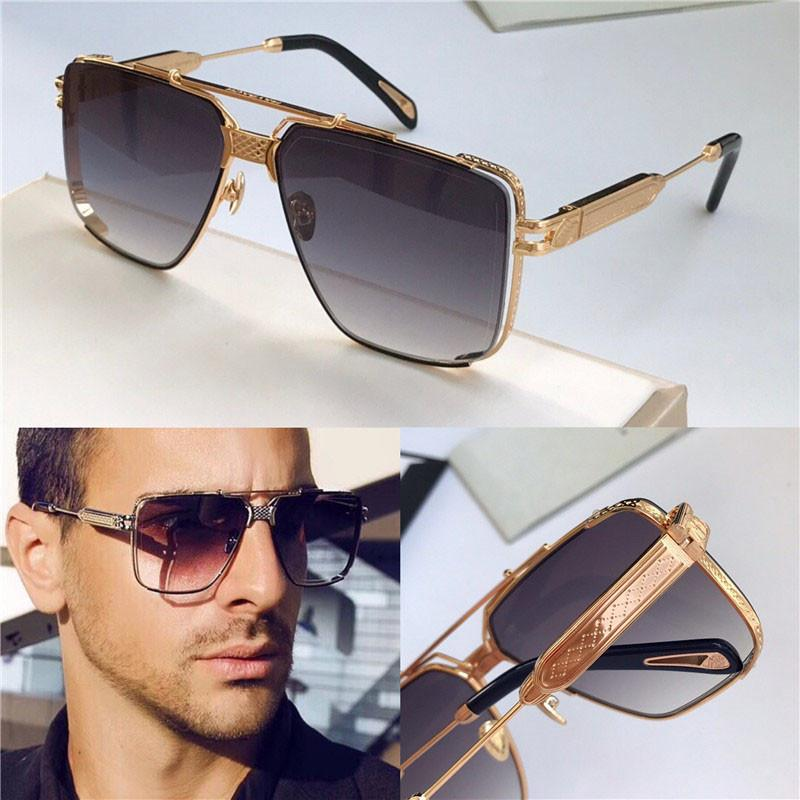 Top hommes lunettes La conception de lunettes de soleil DAWM or carré K top haut de gamme de cadre creux qualité lunettes UV400 extérieur