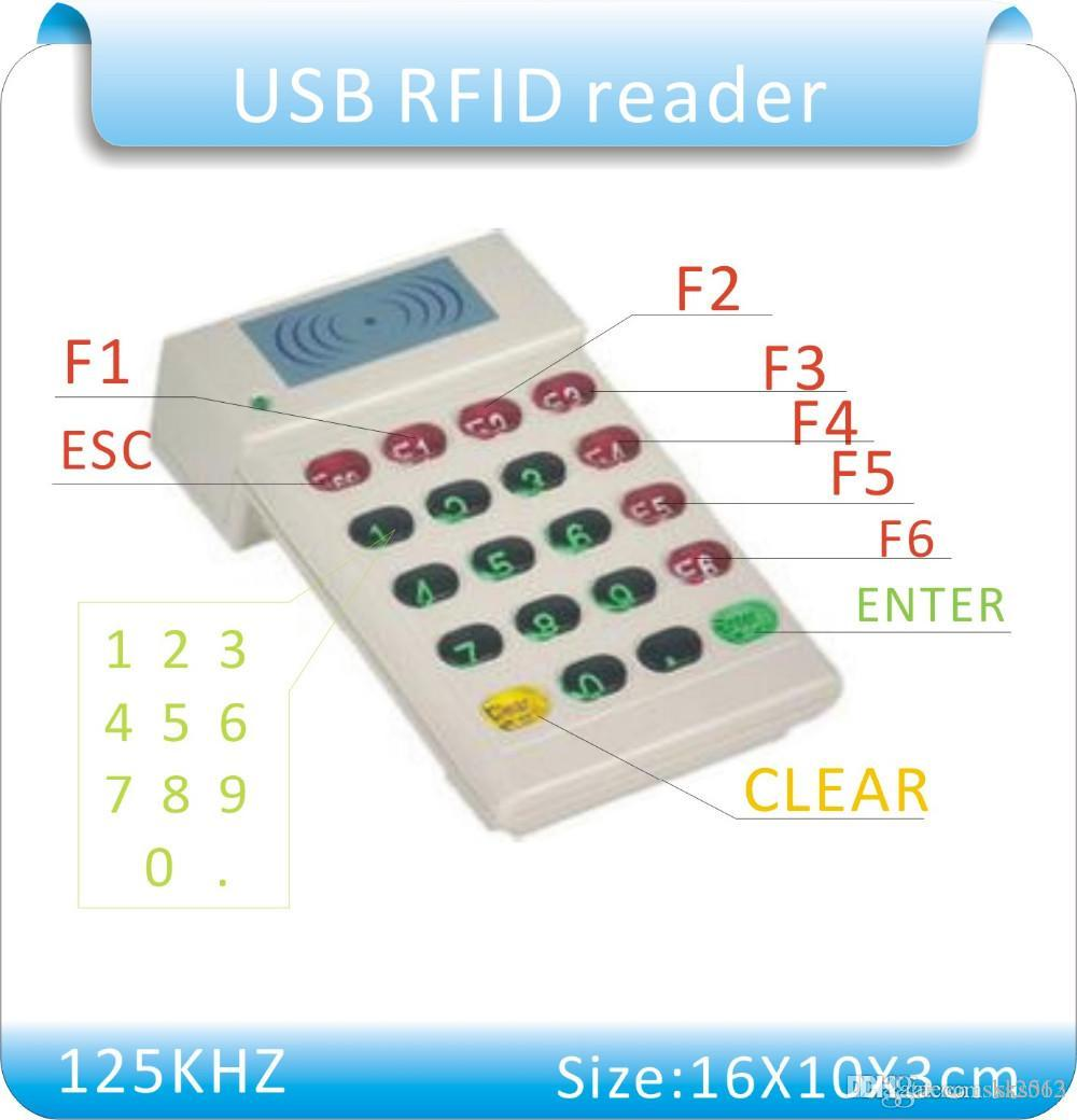 HCE 706 porta USB 125KHz Proximidade RFID ID Card Reader + teclado numérico