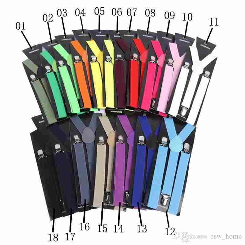 Mens Womens Unisex Büyüleyici Renkli clip-Jartiyer Elastik Y-Şekil Ayarlanabilir Parantez ücretsiz kargo yüksek kalite 10 adet / grup