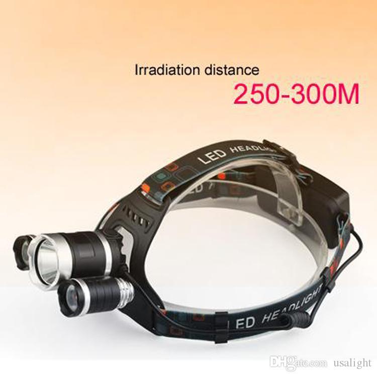 Crestech 6000Lm 3T6 светодиодные фары фары головного света 3-режим факел + 2x18650 батарея + зарядное устройство для рыбалки огни 3t6 фары