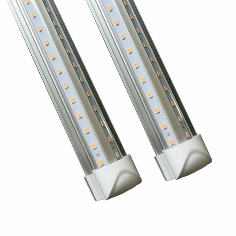 4ft 5ft 6ft 8ft led t8 tubes light V shaped led tubes for cooler door lighting integrated led Fluorescent light ac 85-265v