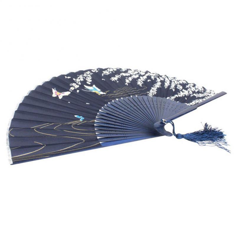 Лето Стильный складной Цветет вишня шаблон бумаги для печати Вентиляторы для руки бабочки Vintage вентилятора стены дома Декор вентилятора