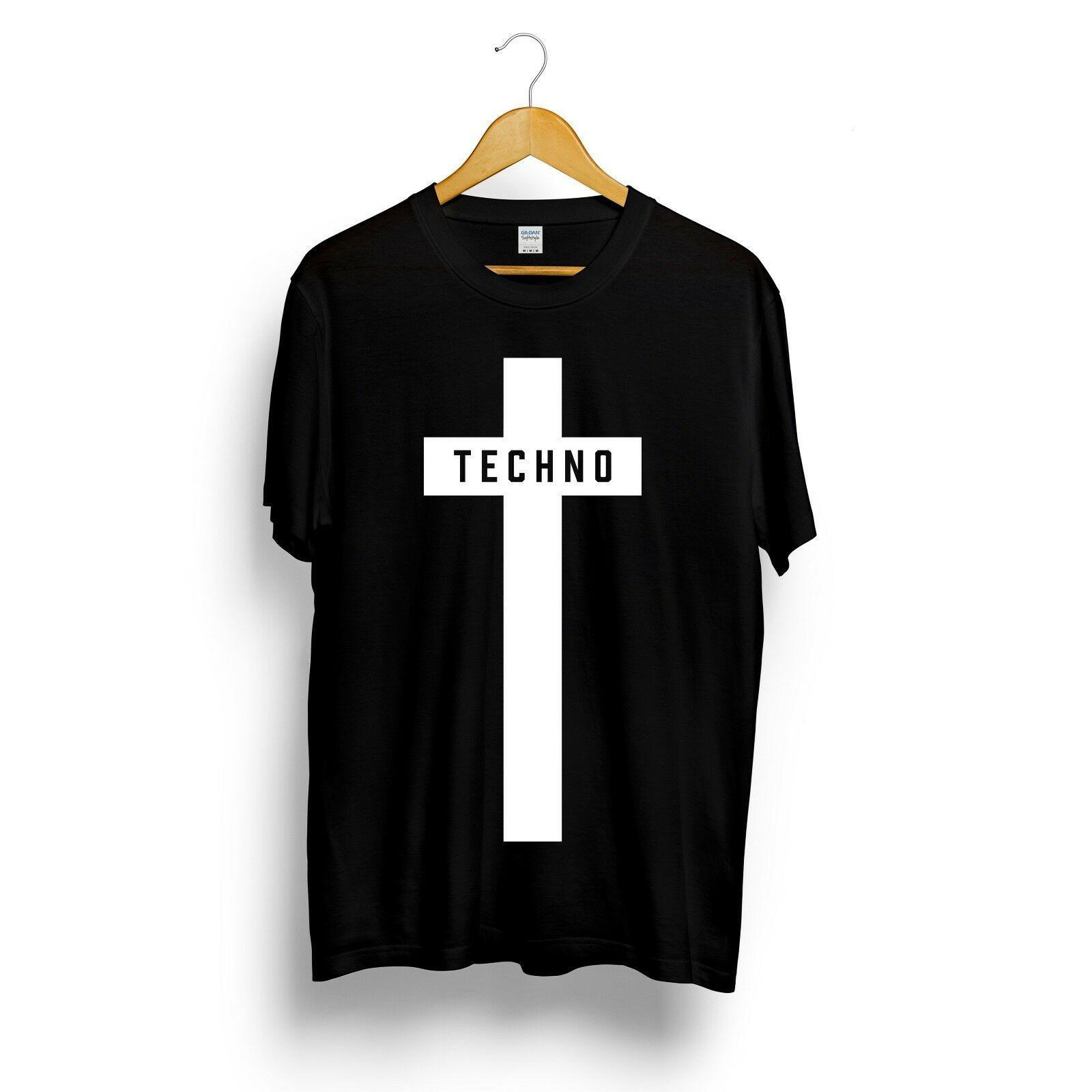 Techno Cross Printed Футболка мужская женщин мужской музыкальный фестиваль Black Detroit Tee Top Summer Streetwear Camiseta Masculina