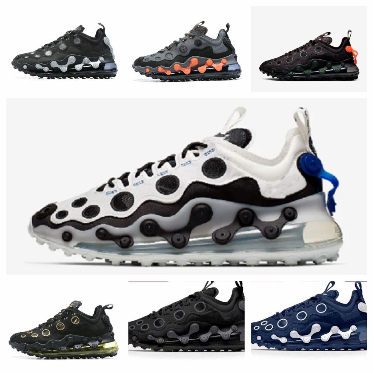2020 720 ISPA Mens Running Shoes Triplo Preto Zebra 720s Bred Reagir elemento 55 87 Men Womens Run tênis Esportes Formadores Tamanho 36-45