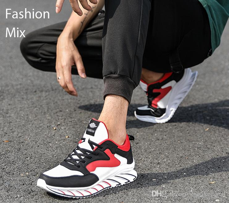 Herren Sneaker Schuhe Ultraleichte atmungsaktive Mesh-Laufschuhe Antiskid Lace-Up Outdoor-Sportschuhe handgemachter weicher Male Gelegenheits Fla