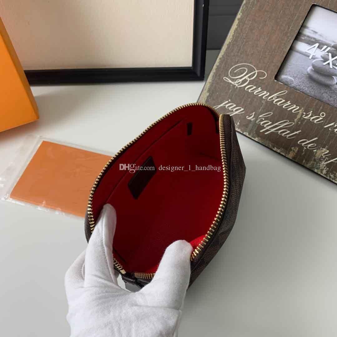 Classic flower design element ladies cosmetic bag zipper handbag round bag body PVC material clutch bag wallet with BOX seven colors