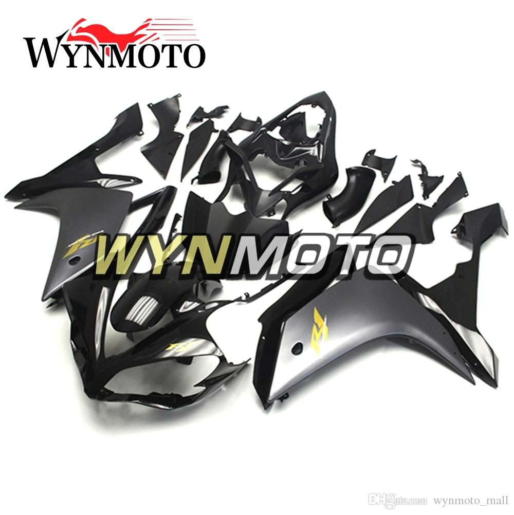 Matte Black and Shiny Black +Gold Decals Injection Bodywork For Yamaha YZF1000 R1 Year 2007 2008 Complete Fairing Kit R1 07 08 New Body Kit