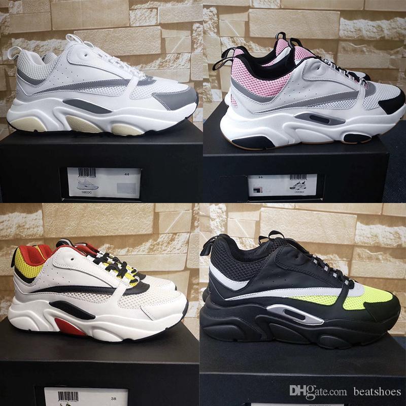 New B22 Sneaker Mens vintage sneakers femmes plat toile et cuir de vachette Baskets Chaussures Low Top Chaussures à lacets Patchwork Chaussures de course
