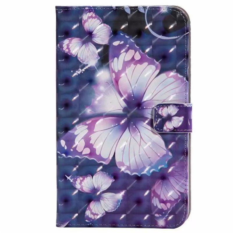 Para Samsung Galaxy Tab A 7.0 T280 T285 Flip Funda de cuero PU Funda Coque 3D Dibujo a color Funda para tableta