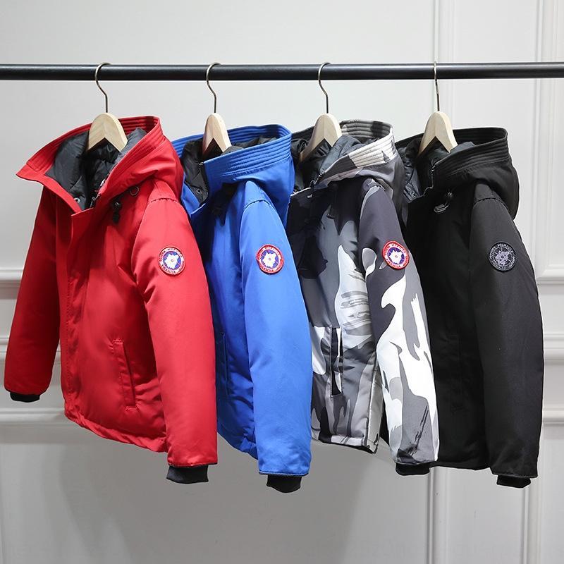 medio y largo plazo de los niños 19 niños y niñas de herramientas capucha engrosadas invierno abajo cubre la chaqueta por la chaqueta