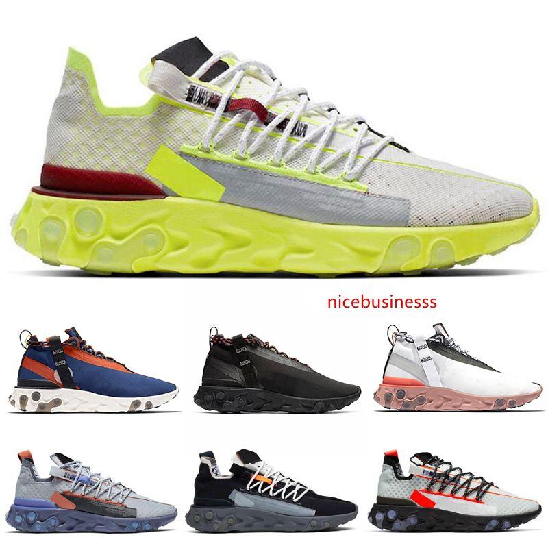 Reagire LW WR Mid ISPA pattini correnti degli uomini fantasma Aqua antracite Platinum Volt Gun Smoke donne Mens allenatori sportivi Sneakers 36-45