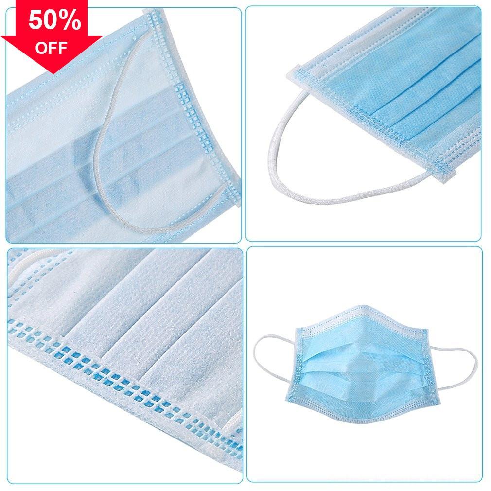 En 1wAgC Stock! de tela de protección desechables 3 capas a prueba de polvo máscara facial Anti-Bacterias Evitar que las mascarillas K
