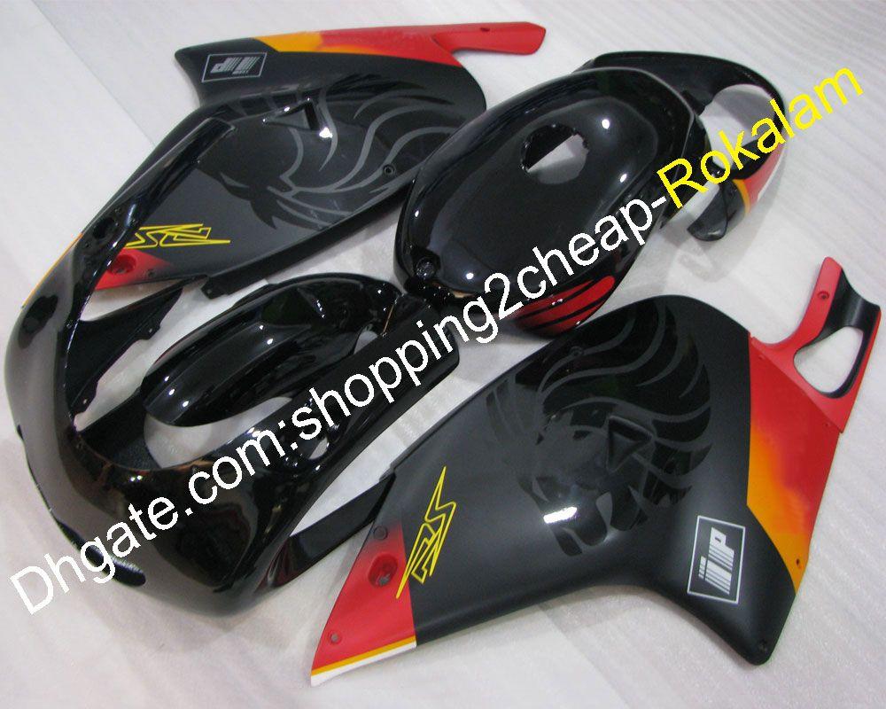 أزياء سوداء حمراء rs 125 طقم دراجة نارية لأبريليا rs125 2001 2002 2003 2004 2005 دراجة نارية abs مجموعة هيكل السيارة هدية