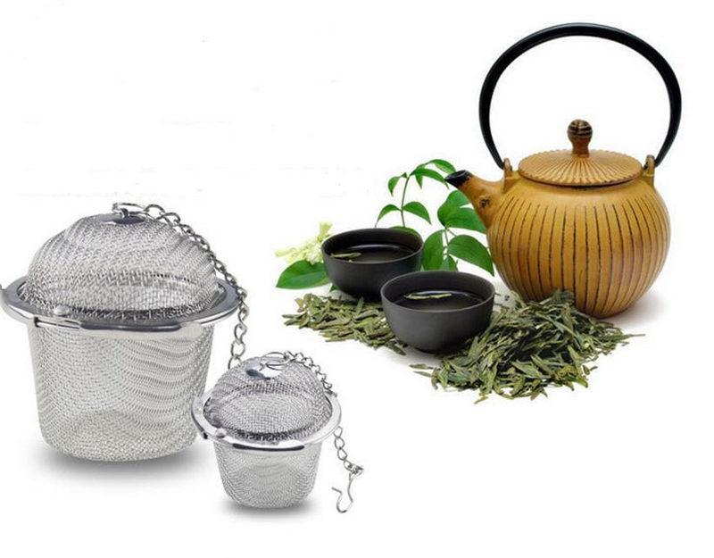 Stainless Steel Tea Infusers Mesh Ball Reusable Strainer Herbal Locking Tea Filter Infuser Spice Coffee Tea Tools