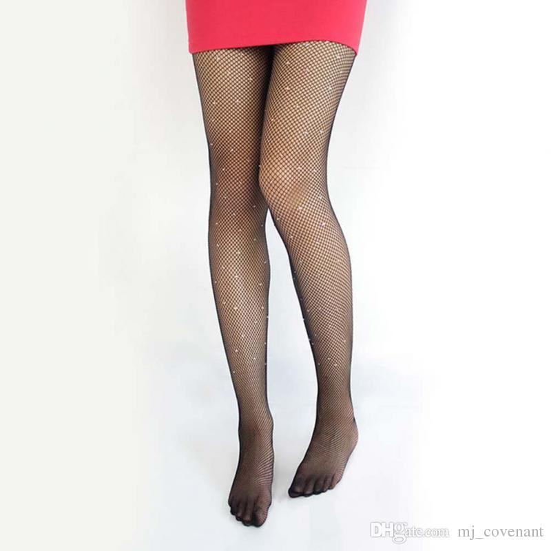 NEW Sexy Womens ladies BASIC Stretch Woman Sexy Thin Bling Crystal Rhinestone Pantyhose Tights Stockings Free Shipping