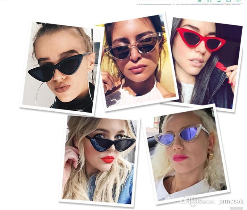 2a15bb222 ... Sombra de olho de gato para as mulheres óculos de sol da moda marca  mulher retro ...