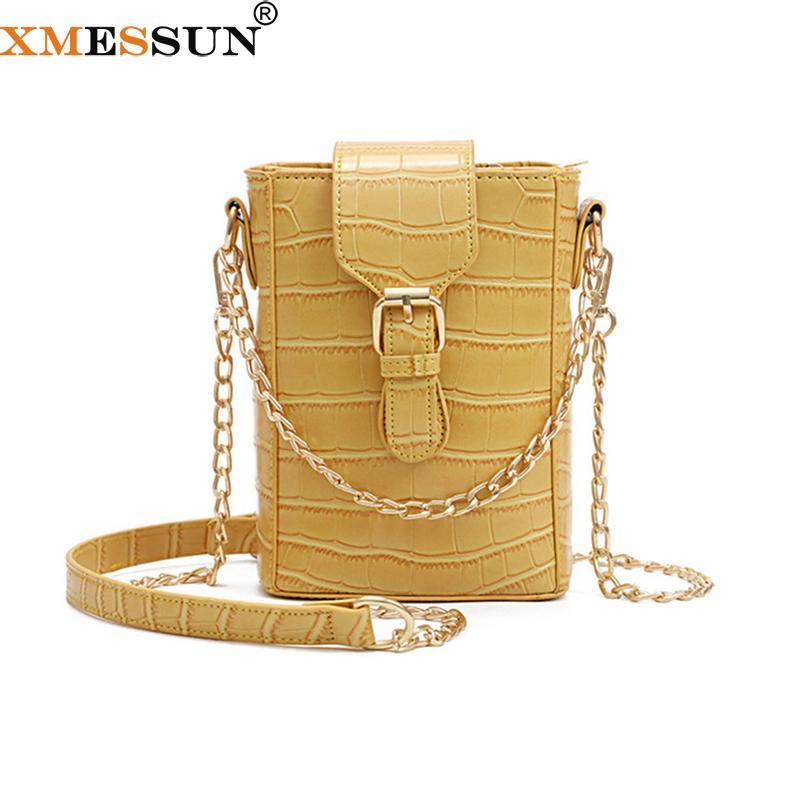 XMESSUN Mulheres de crocodilo padrão cadeia de bolsas de ombro nova moda na moda Messenger Bag Viagem Lazer Carteira ins K31