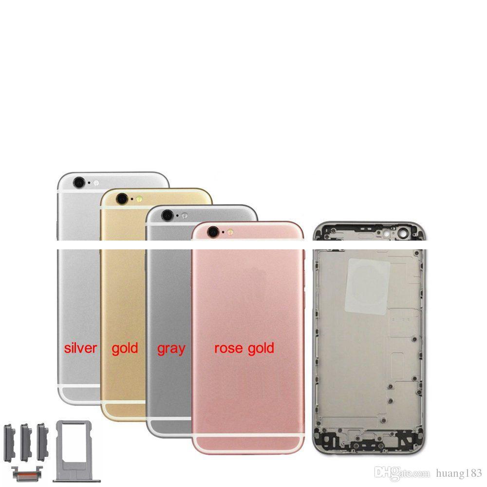 5 unids Nuevo Reemplazo de Vivienda Trasera para iPhone 6 s Tapa de la Batería Caja de la Carcasa Cuerpo Medio del Chasis con piezas de reparación IMEI
